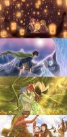 Fairy Tail crossovers by blanania