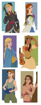 Disney Guys - Genderbend by juliajm15