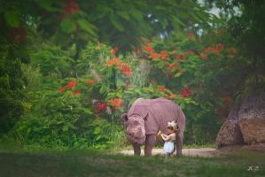 Have A Flower Rhino by hannabananapm