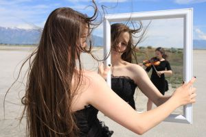 Black Gown and Mirror 06 by Lynnwest-Stock
