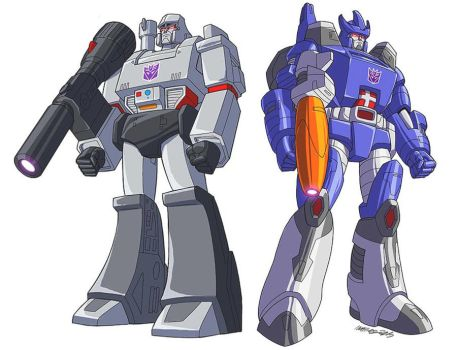Transformers Decepticons G1 leaders by MarceloMatere