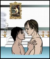 Harry and Cedric: The Bath by Harry-x-Cedric