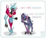 Price Reduced, $20 OBSIDIAN ADOPTS [OPEN] by Nimkey