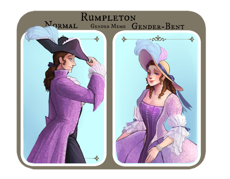 Rumpleton genderbending and stuff by xLunatiCXz