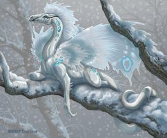 Little Snow Dragon. by jaxxblackfox