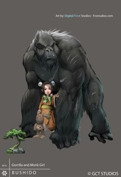 Gorilla and Monk Girl by FROSTconcepts