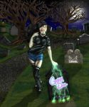 A Grimm Doll in A Grave Yard by wondermanrules