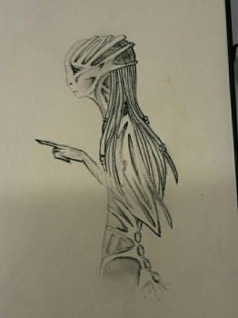 Alien ( Sketch )  by TheHideFriday