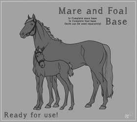 Mare and Foal Base by FeatherCandy
