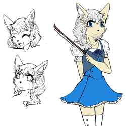 Melody the Fennec Fox by Light-girl