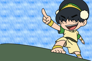 Toph chibi by pixi-dust