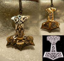 Steampunk Thor's Hammer Medal by Zackary