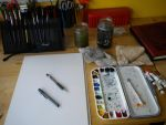 Watercolor set up by drgnelf