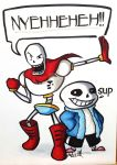 Undertale - Papyrus and Sans by ComicsByAndie