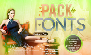 Mini Pack de Fonts {Free} by yssietwilighter