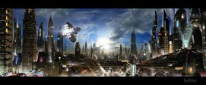 Futuristic City 3 by rich35211