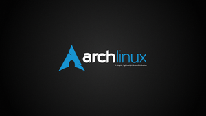 Arch Linux Wallpaper Dark by kjeksomanen