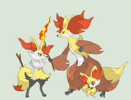 Pokemon Base 98~Fennekin Evolution~