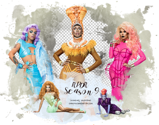 Pack PNG: RPDR Season 9 by OhMyFuckingArt