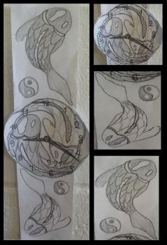 Yin Yang Koi fish - paper watch~ by iCrave4Anime