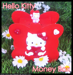 Hello Kitty MoneyBox - Red by AyumiDesign