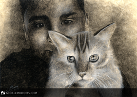 A Boy and His Cat by NoelleMBrooks