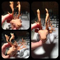 WIP - Caribou poseable doll by CreaturesofNat