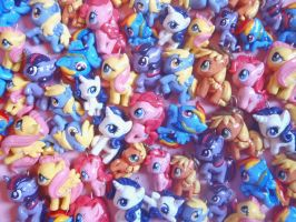 Chibi-Charms: My Little Ponies by MandyPandaa