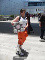 AX 11-Chell and Companion Cube by MelAddams