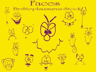 cartoonfaces by stephasaurus by Stephasaurus-Stock