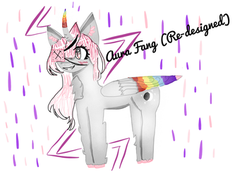 Aura Fang ( Re-designed) by Pinkie---Dash