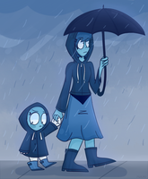 SU-Walking In The Rain by 763Lilypadpandaowl