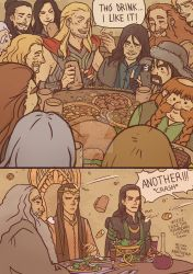 Thor-The Hobbit: a bunch of unexpected guests by Kibbitzer