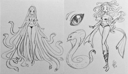 Goretober Monster Adopt- Slithering Seductress by JeansLily