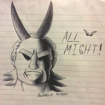 All Might by BlueArtist680
