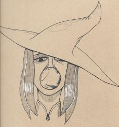 Inktober 08, 2017 (Crooked Witch) by KingArthur13th