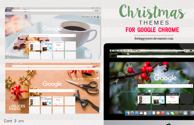Themes Google Chrome XMAS (2/2) by iBeHappyRawr