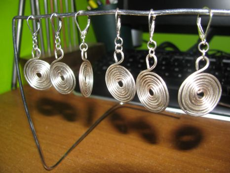 Sterling Silver WIP Earrings by Melifacent