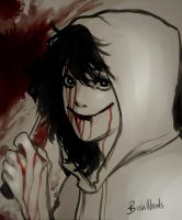 Jeff The Killer Sketch by BirchWoods