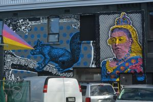Streetart 1705/ Squirrel Queen? by dorenna