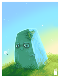 The rock and the floating seed by griffsnuff