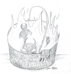 Hell in a Hand Basket by marr0w