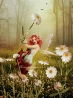 Gathering Daisies by maiarcita