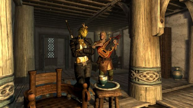 Skyrim - Enjoying Music by Octoman75
