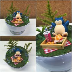 PBT Collage - Snorlax Picnic by TheVintageRealm
