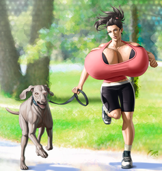 Jessica Jogging by mangrowing