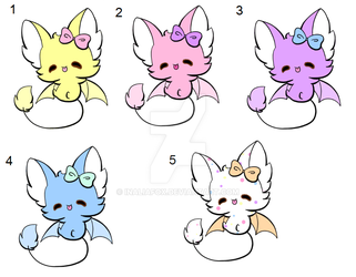 Batty Peep Easter Adopts! by InaliaFox