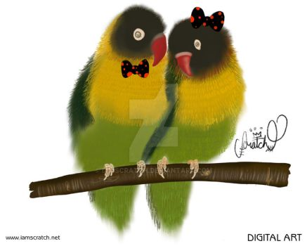 Bowtie Animal - Love Birds by iamscratch