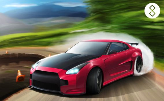 Nissan GT-R by hugerth