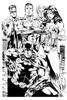 The New 52! Justice League (Ink) by johncastelhano